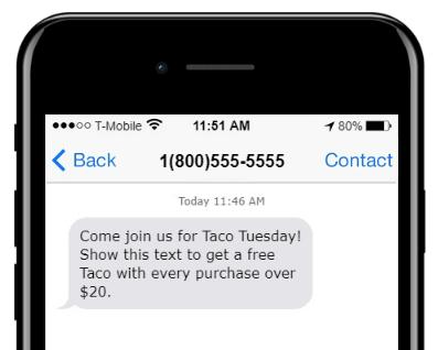 church sms example 1